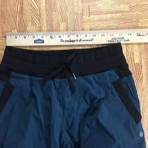 lululemon athletica Pants - Lululemon sz 6 Blue Ruched Athletic Dance Pants